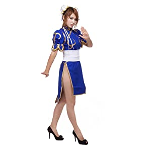 chun li chung cosplay anime costume full set dressup halloween