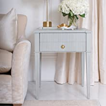 Jolie Paint Misty Cove End Table Side Grey Gray Furniture Painted Matte Finish Serenity Color