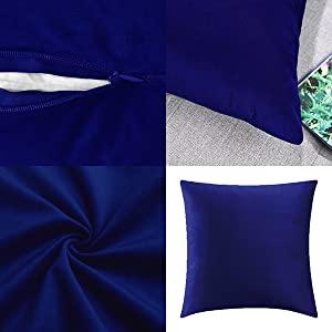 dark blue pillow covers 16x16,dark blue pillow covers 18x18,dark blue pillow covers 20x20