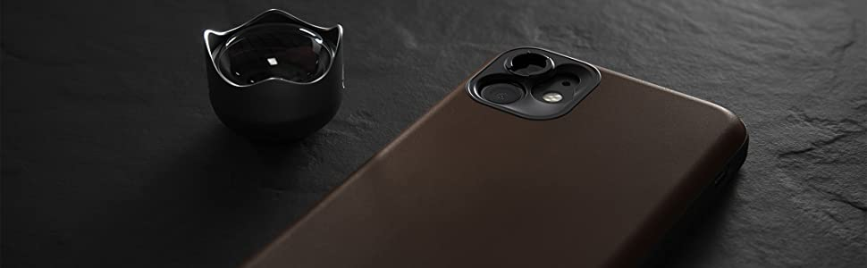 Nomad Rugged Case for iPhone 11 Moment Lens Edition Rustic Brown Horween Leather