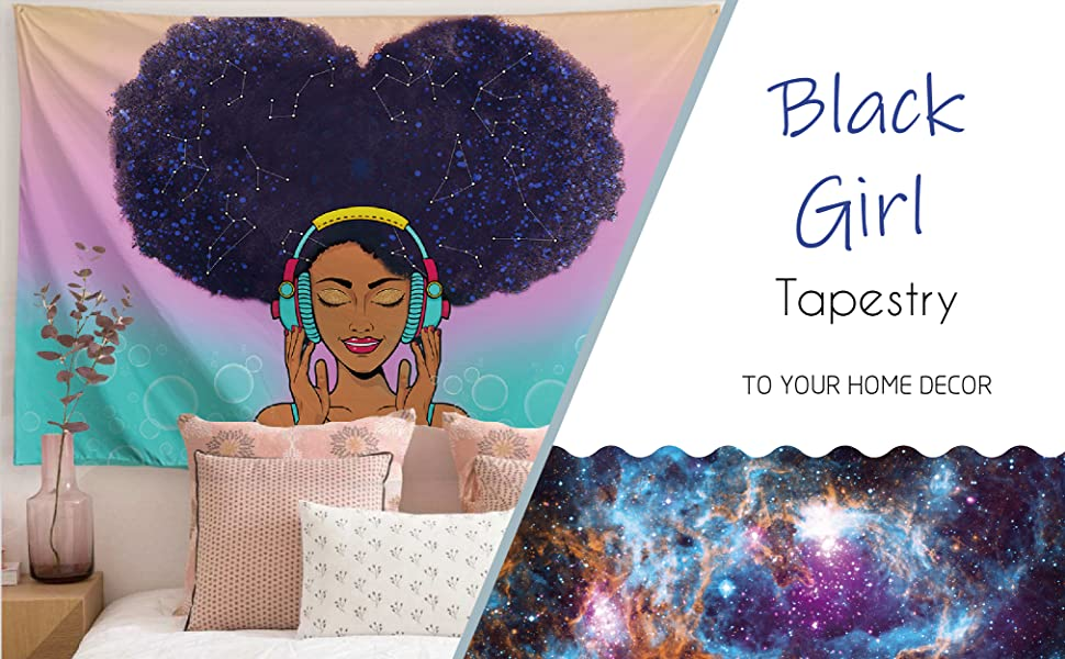 astrology tapestry,zodiac tapestry,blue hair women tapestr,trippy tapestry,boho tapestry,galaxy