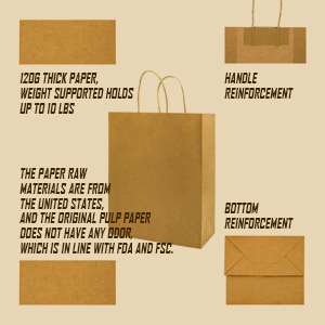 sturdy paper bag with handles