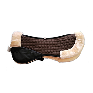 Faux Fur/Sheepskin Horse Half Pads-Brown