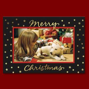 Foil Photo Frame Christmas Cards