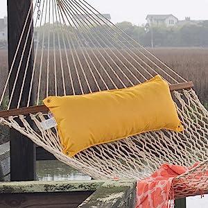 Yellow Outdoor Hammock Pillow