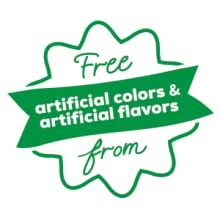 free from artificial colors and flavors
