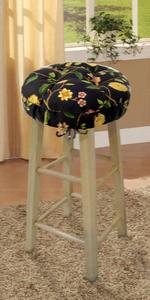 round bar stool cover cushion barnett home decor barstool slipcover latex foam sponge adjustable