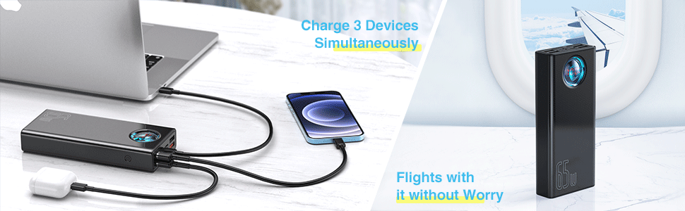 65W PD Fast Charge Portable Charger