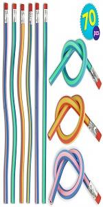 70 PCS Flexible Bendy Pencils