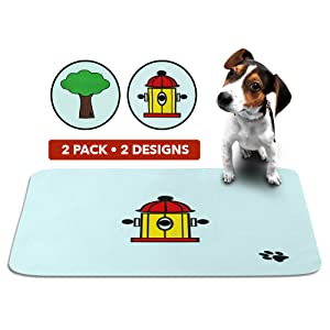 cute reusable washable puppy dog training pads housebreaking travel incontinence  pets waterproof