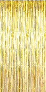 Gold foil fring curtain for Christmas xmas party Happy New Year