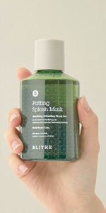 patting splash mask soothing & healing green tea