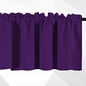 purple rod pocket valance