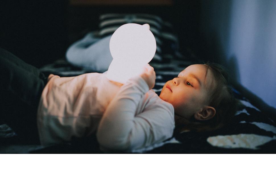 girl kids night light soft portable soothing light color nursery