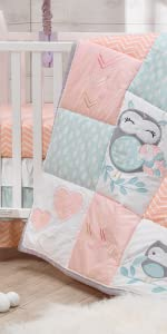 Sweet Owl Dreams Crib Set