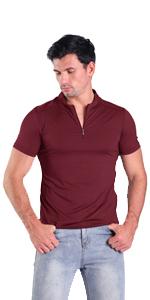 dark red mens henley shirts