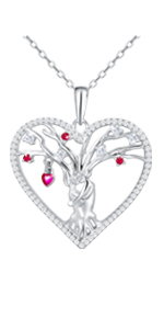 heart necklaces tree of life necklace tree necklace for women necklaces tree of life