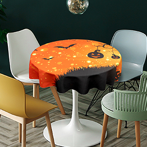 small sizehalloween evil night round table cloth