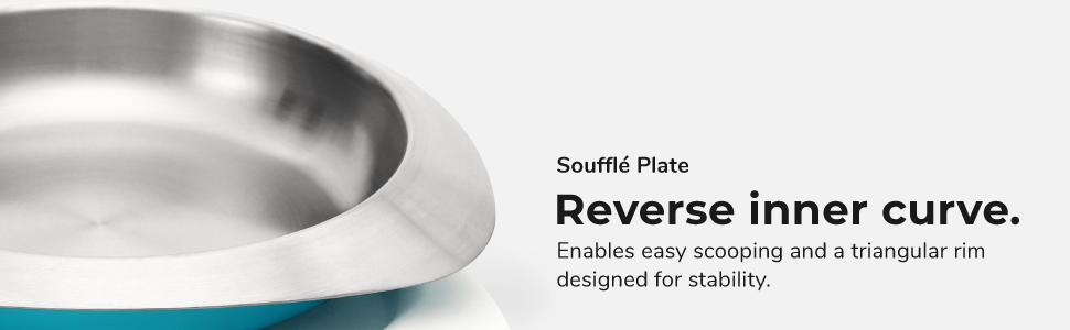 VIIDA, stainless steel plate, feeding plate, dining plate, kids plate, dinnerware set, tableware set