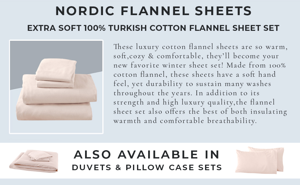 Nordic Flannel Sheets