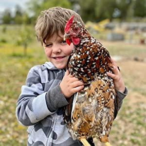 chickens make kids smile