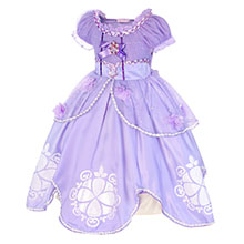purple dresses for little girls costume princess party outfits HB006+P002-1
