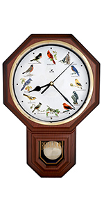 Bird Melody Pendulum Wall Clock