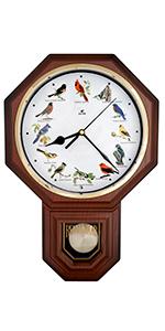 Bird Melody Pendulum Wall Clock