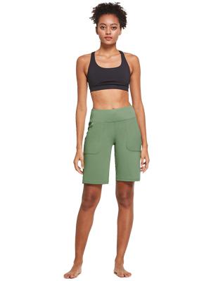 women running bermuda shorts yoga lounging casual wear fitness gym workout long shorts