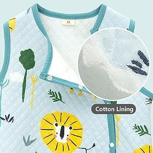 cotton lining