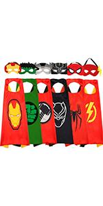 NuGeriAZ Superhero Capes for Boys 6PCS
