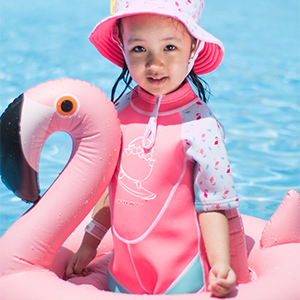 Cheekaaboo upf50 neoprene thermal swimsuit wetsuit sunsuit kids toddler uv protective keep warm
