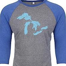 Great Lakes outline baseball shirt