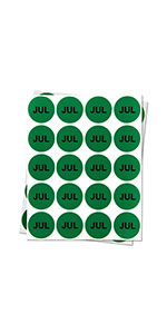 1PK |1 inch - Round Months of the Year: July Stickers