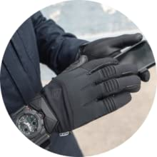 police duty military glove light leather