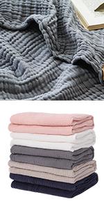 100% Cotton Muslin Blankets