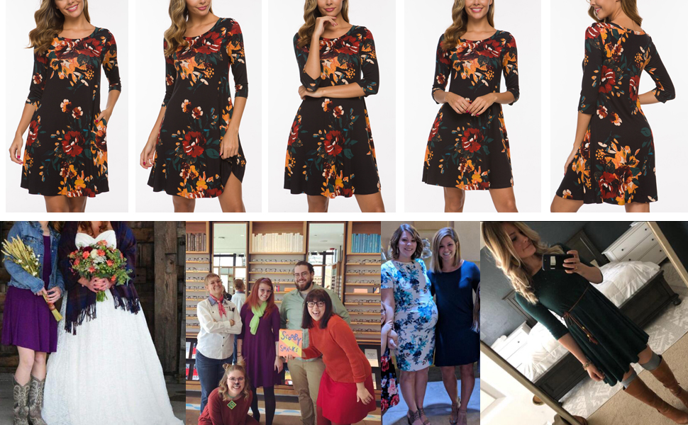 swing dresses with pocket