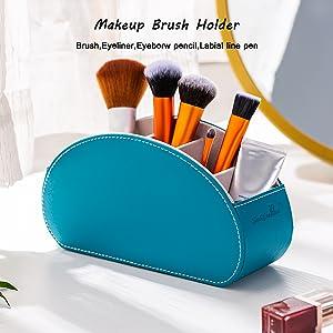 bule brush holder