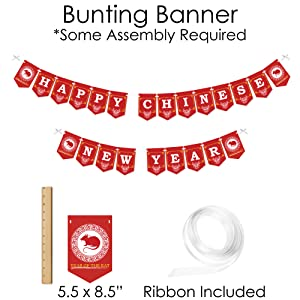 Chinese New Year Party Supplies - Banner Decoration Kit - Doterrific Bundle