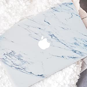 Silk White Marble Macbook Case