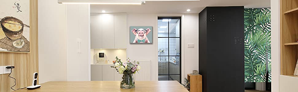 funny pig wall art humor animal picture wall decor