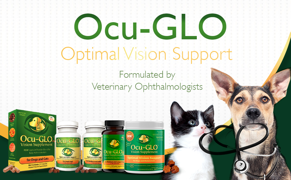 Ocu-GLO Gelcaps Vision Supplement for Dogs Developed by Board Certified Veterinary Ophthalmologists