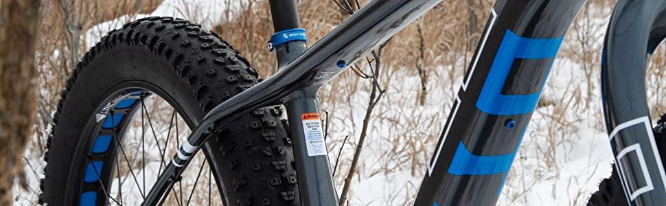 Wolf Tooth, Otsto, Voytek, fatbike, snow bike, fat bike, cnc, seat clamp, anodized, blue