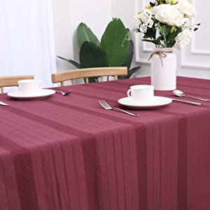 wine red tablecloth