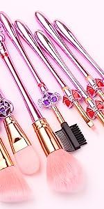 Salior Moon foundation makeup brush set