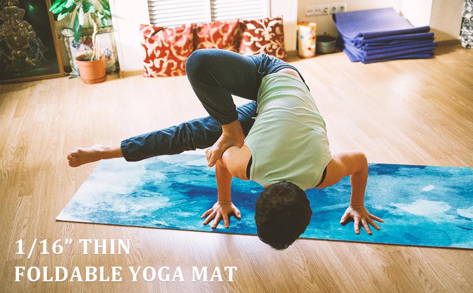thin foldable yoga mat