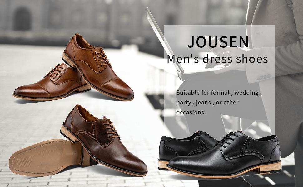 Details about  /JOUSEN Men/'s Oxford Leather Dress Shoes Formal Shoes for Men