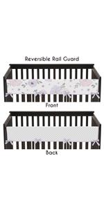 Lavender Purple, Pink, Grey and White Polka Dot Long Front Crib Rail Guard Baby Teething Protector