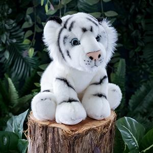 plush white tiger stuffed animal wildlife toy