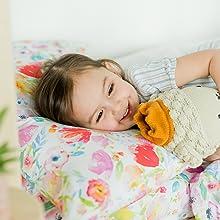 organic cotton toddler pillowcase watercolor floral cotton